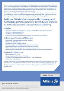 Praktikant / Werkstudent (m/w) im Marktmanagement für Marketing