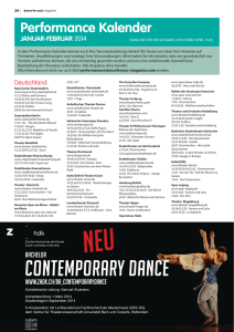 Contemporary Dance - Dance for You Magazine