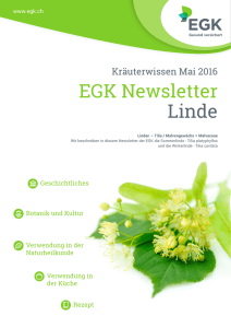 EGK Newsletter Linde