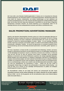 sales promotion/advertising manager