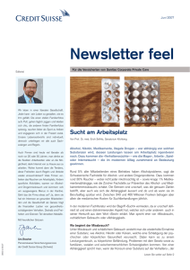 Newsletter feel