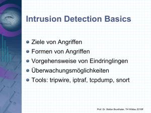 Folien zu Intrusion Detection Systeme