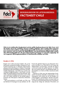 factsheet chile - Forschungs- und Dokumentationszentrum Chile