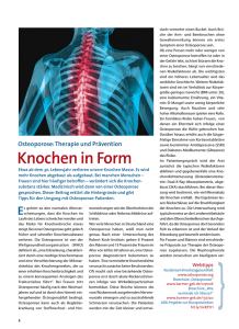 Knochen in Form - Info Praxisteam