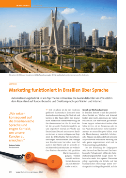 Marketing funktioniert in Brasilien über Sprache