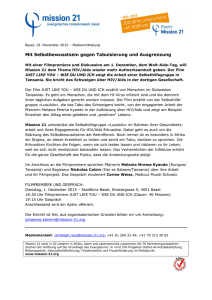Welt-Aids-Tag Dokfilmpremiere Tansania