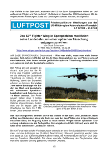 Das 52nd Fighter Wing in Spangdahlem modifiziert seine