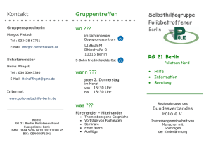 Flyer - Polio Selbsthilfe Berlin