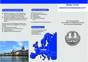 Master of Arts DEMOKRATIEWISSENSCHAFT
