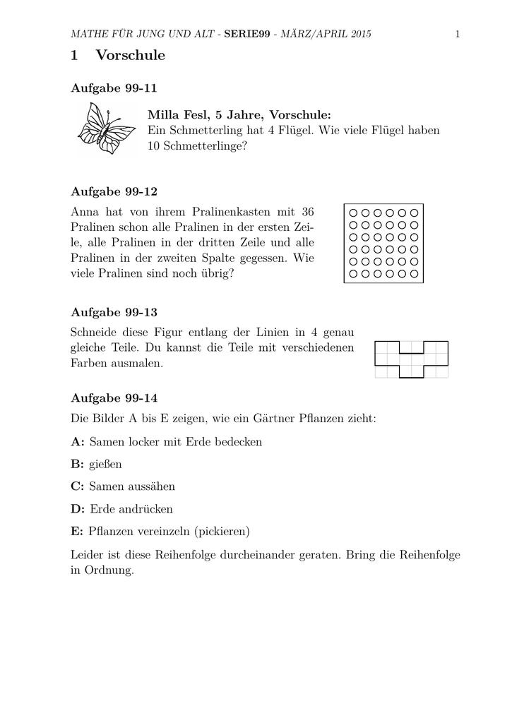 1 Vorschule - Mathe für jung und alt