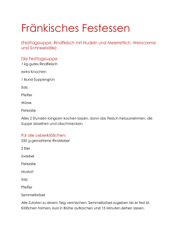 Festessen – Menue - Thundorfer