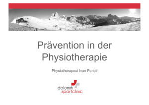 Prävention in der Physiotherapie