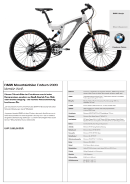 BMW Mountainbike Enduro 2009 Metallic Weiß