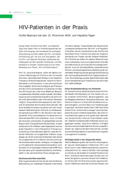 HIV-Patienten in der Praxis