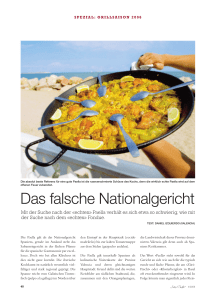 Die echte Paella - Swiss Marketing Spain