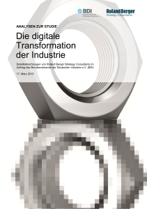 Die digitale Transformation der Industrie
