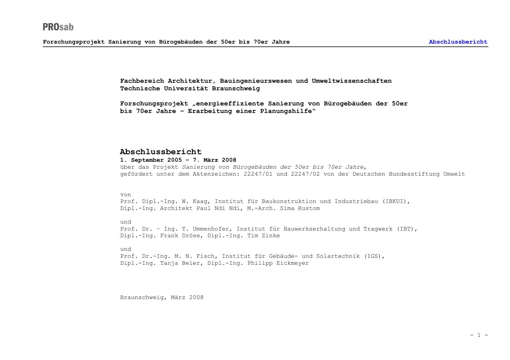 Abschlussbericht - Deutsche Bundesstiftung Umwelt