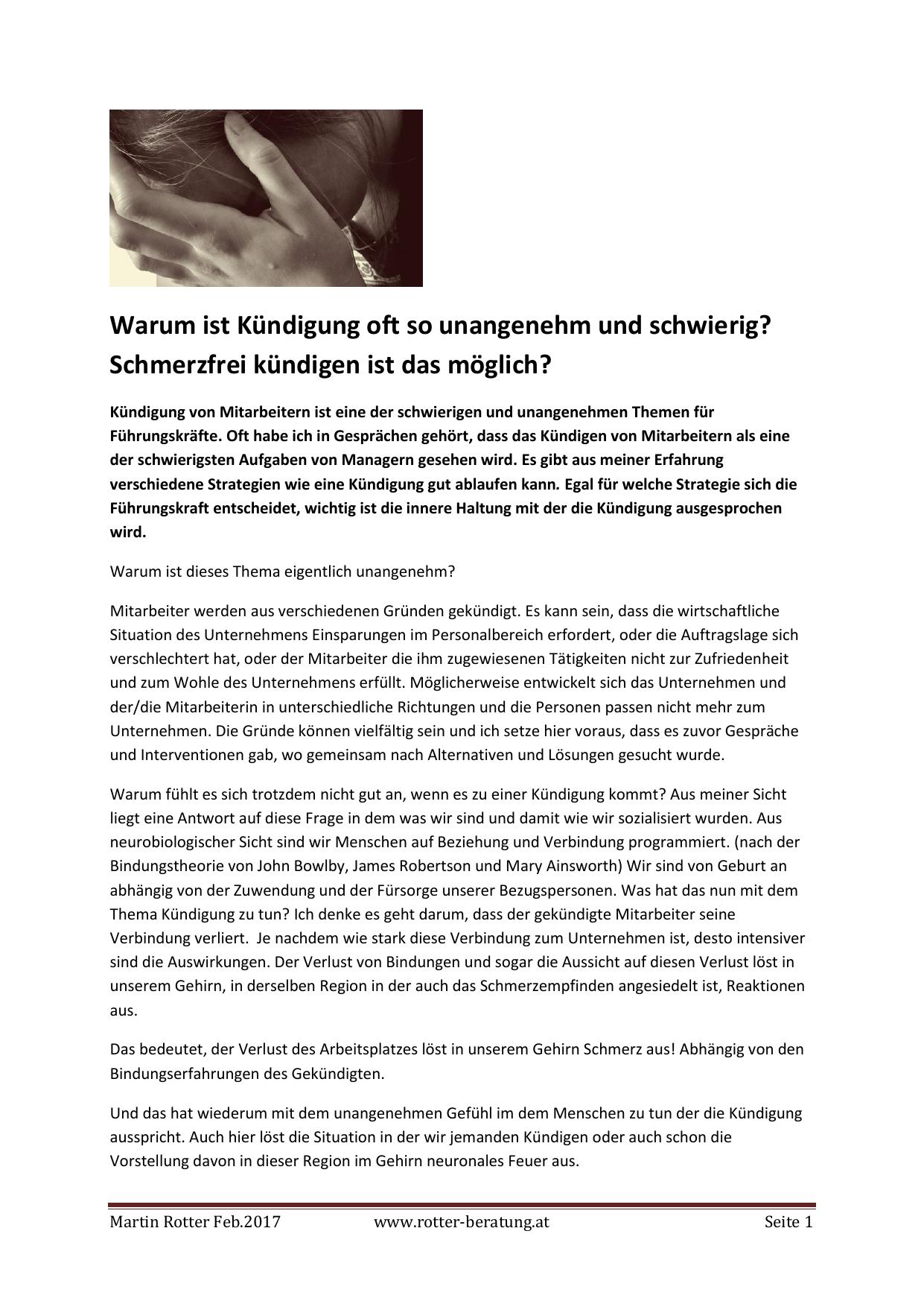 Emotionale Kündigung, PDF