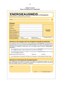 64 Anlage 6 (zu § 16) Muster Energieausweis