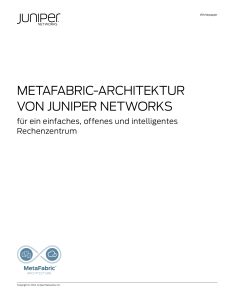 Juniper Networks MetaFabric Architecture