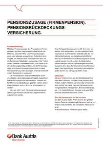 PENSIONSZUSAGE (FIRMENPENSION