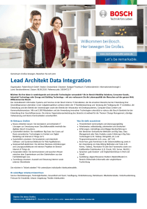 Lead Architekt Data Integration - Bosch