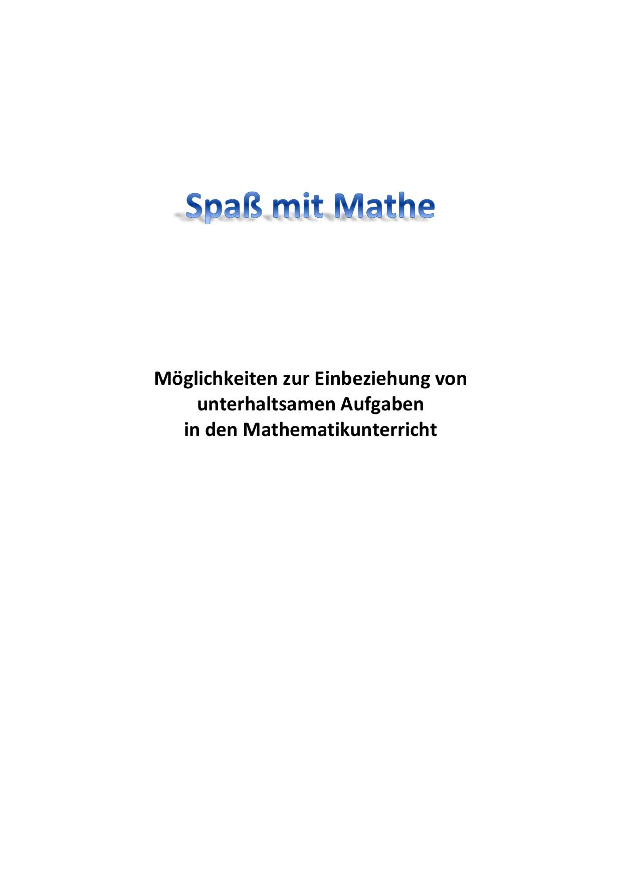 Aufgabe mit einem überraschenden Ergebnis - Mathe-MV