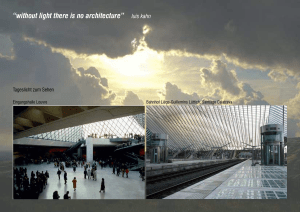 """without light there is no architecture"" luis kahn"