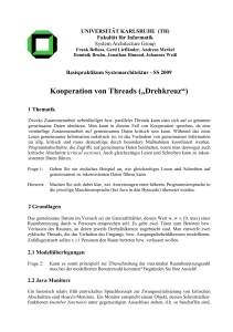 "Kooperation von Threads (""Drehkreuz"")"