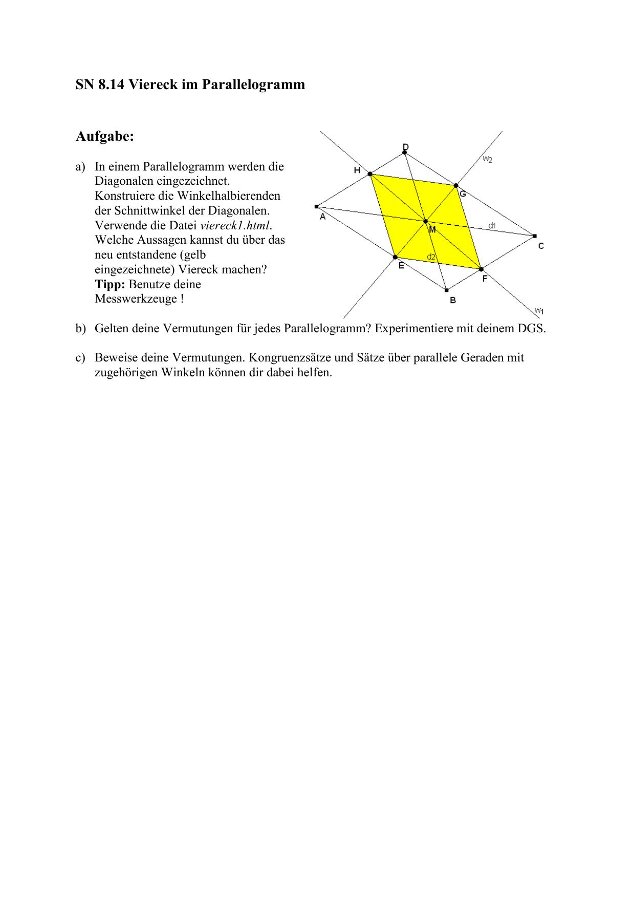Viereck im Parallelogramm