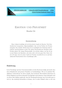 Emotion und Privatheit
