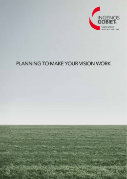 planning to make your vision work