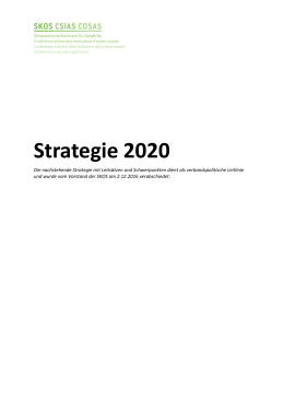Strategie 2020