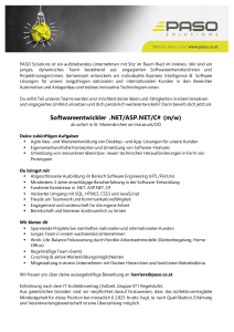Softwareentwickler .NET/ASP.NET/C# (m/w)