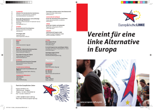 Vereint für eine linke Alternative in Europa