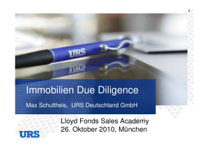 Immobilien Due Diligence