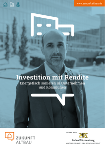 Investition mit Rendite