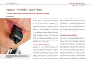 Internes Whistleblowing fördern