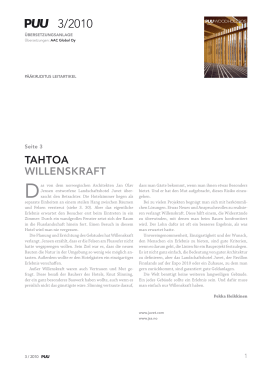 tahtoa willenskraft - Woodarchitecture.fi