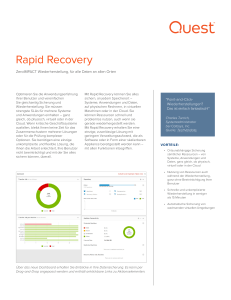 Rapid Recovery - Quest Software