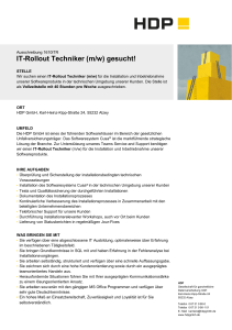 IT-Rollout Techniker (m/w) gesucht!