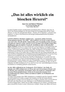 Interview mit Robert Whitaker - Torsten Engelbrecht, Journalist