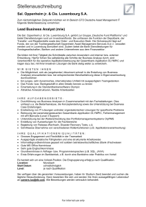 Lead Business Analyst (m/w)