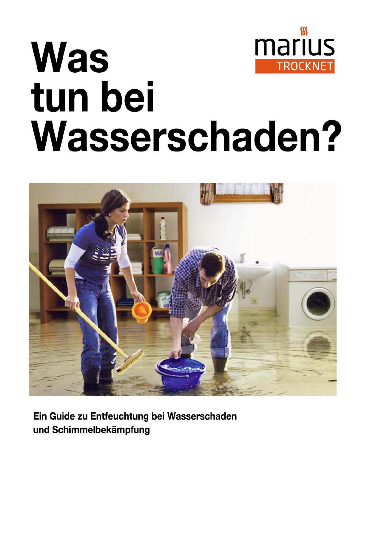 Was tun bei Wasserschaden - Wasserschaden Entfeuchtung Wien