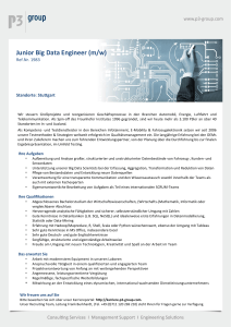 Junior Big Data Engineer (m/w)