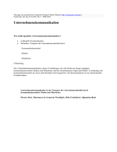 Unternehmenskommunikation : Corporate Wording ® Master
