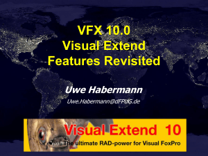 VFX10.0 Features Revisited - dFPUG