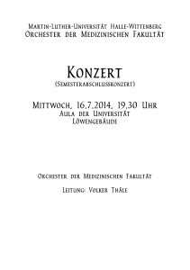 Konzert - Martin-Luther-Universität Halle