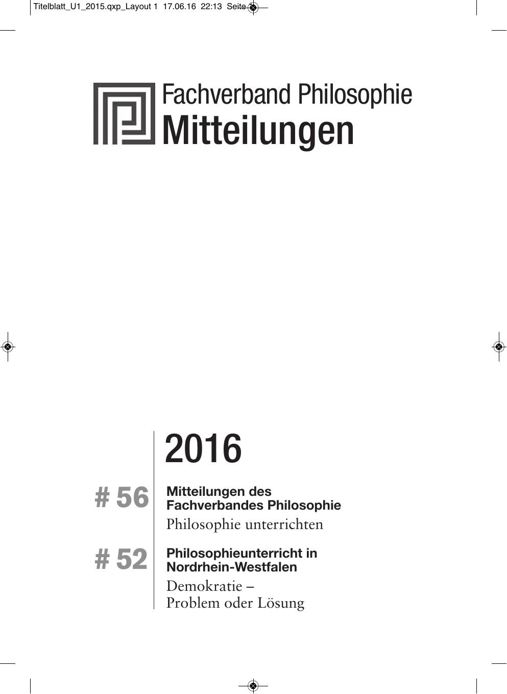 2016 Mitteilungen - Fachverband Philosophie