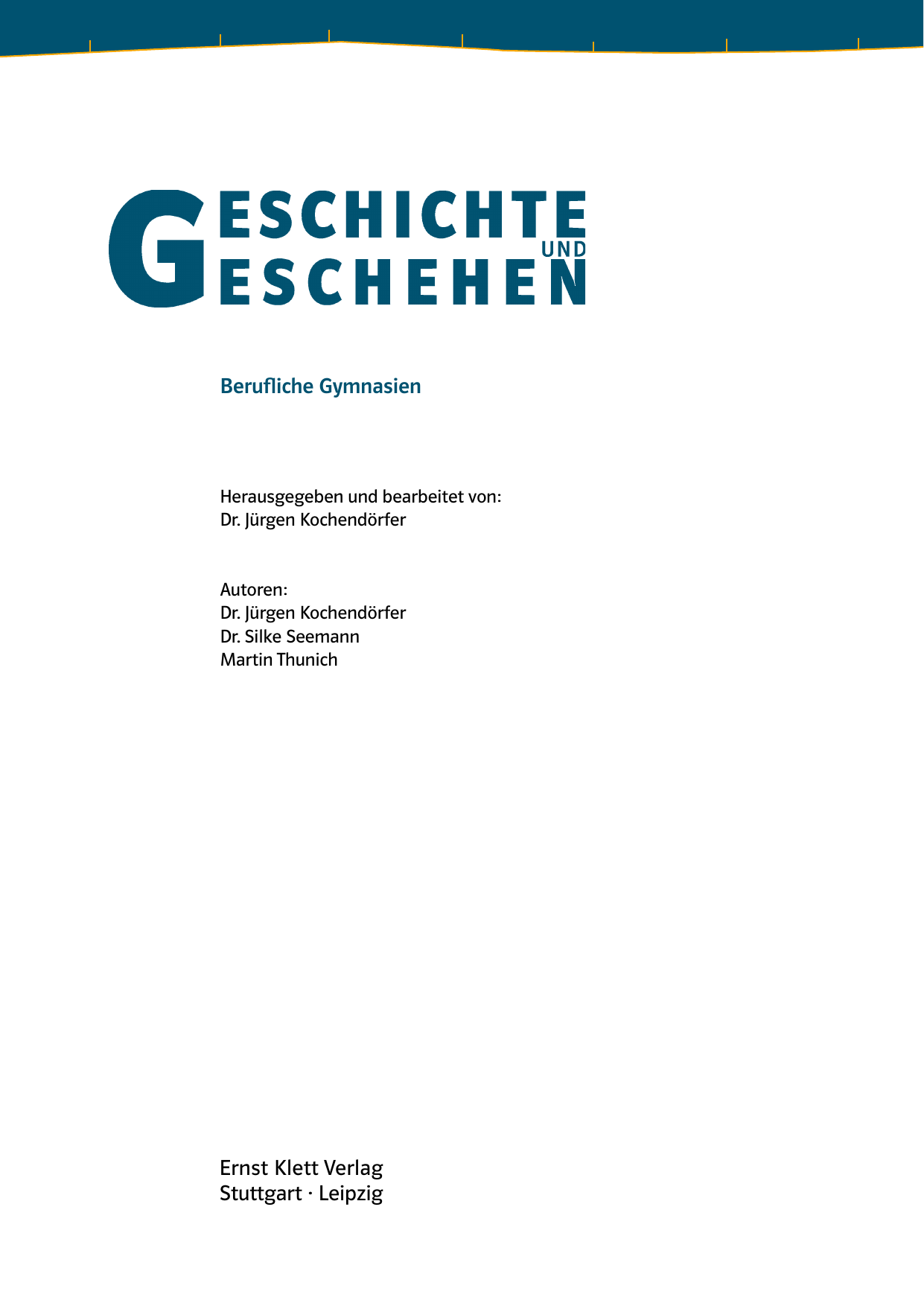 Ernst Klett Verlag Stuttgart · Leipzig Berufliche Gymnasien